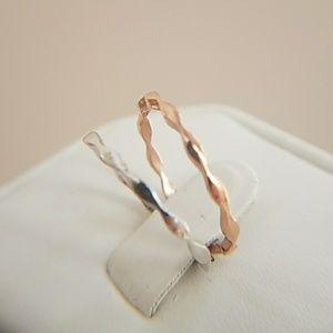 10k White or Rose Gold Wedding Band size 7